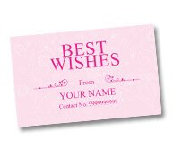 Best Wishes Card/Stickers
