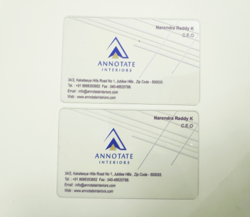 Transparent Plastic Card